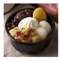 北海道産小豆使用  秋の味わい白玉あんみつ