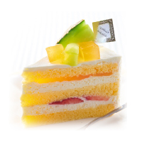 メロンのプレミアム純生クリームショートケーキ