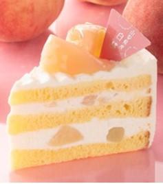 山梨県産白桃のプレミアム純生クリームショートケーキ