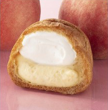 山梨県産白桃ダブルシュークリーム